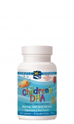Nordic Naturals: Children's DHA - Strawberry (250mg) (90 Chewable Soft Gels)