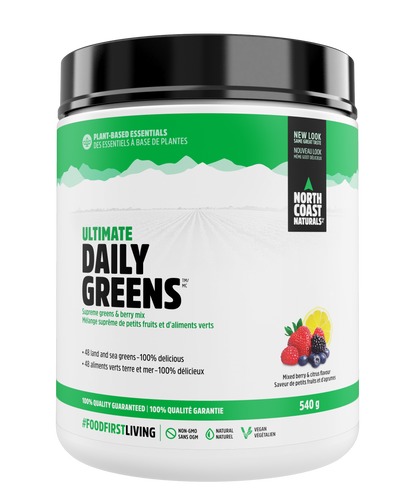 North Coast Naturals | Ultimate Daily Greens - Mixed Berry & Citrus Flavour (540g)