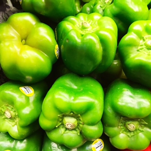 Certified Organic Green Bell Peppers (1kg)