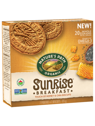 Nature's Path: Sunrise Breakfast - Touch of Honey & Chia Biscuits (175g)