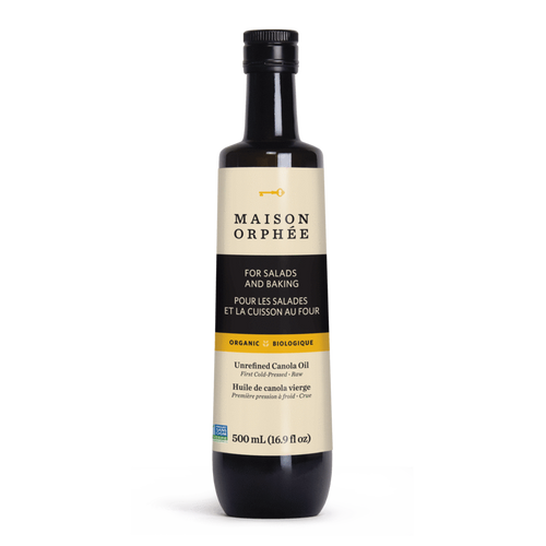 Maison Orphee: Organic Unrefined Canola Oil (500ml)