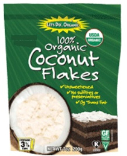 Let's Do Organic: Organic Unsweetened Coconut Flakes (198g)