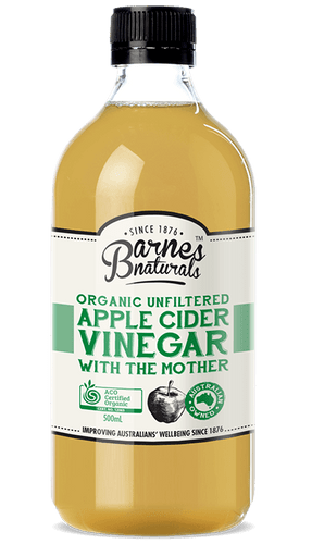 Barnes Naturals: Organic Unfiltered Apple Cider Vinegar With The Mother (500ml)