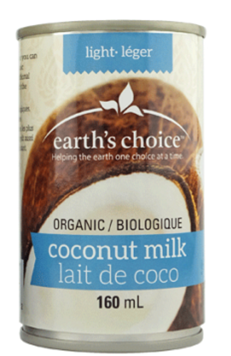 Earth's Choice: Organic Lite Coconut Milk (160ml