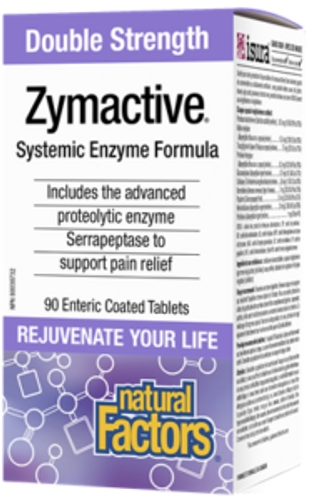 Natural Factors: Zymactive - Double Strength (90 Enteric Coated Tablets)