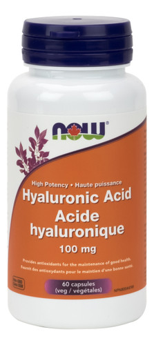 NOW: Hyaluronic Acid (100mg) (60 Vegetarian Capsules)