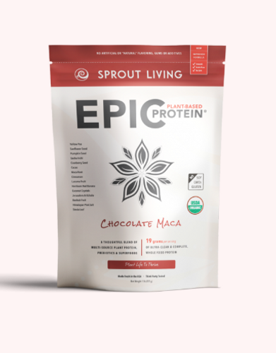 Sprout Living: Epic Plant-Based Protein - Chocoalte Maca (455g)
