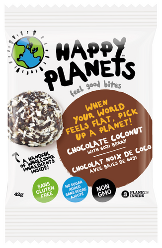 Happy Planets: Feel Good Bites - Chocolate Coconut (42g)