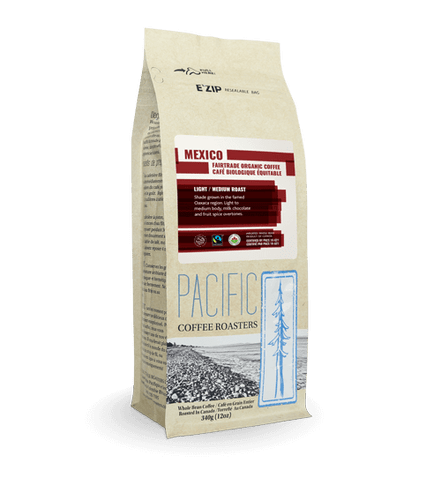 Pacific Coffee Roasters: Fair Trade Organic Coffee - Mexico Light/Medium Roast (340g)