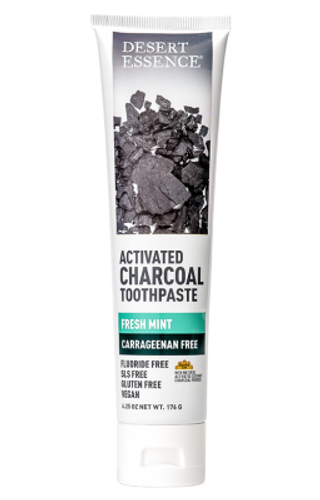 Desert Essence: Toothpaste Activated Charcoal (176g)