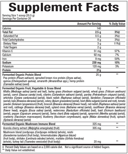Whole Earth & Sea: Protein & Greens-Unflavoured (640g)