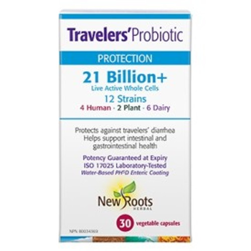 New Roots Herbal: Travelers' Probiotic (30VCAP)