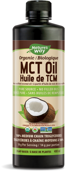 Nature's Way: Organic 100% MCT Oil (480ml)