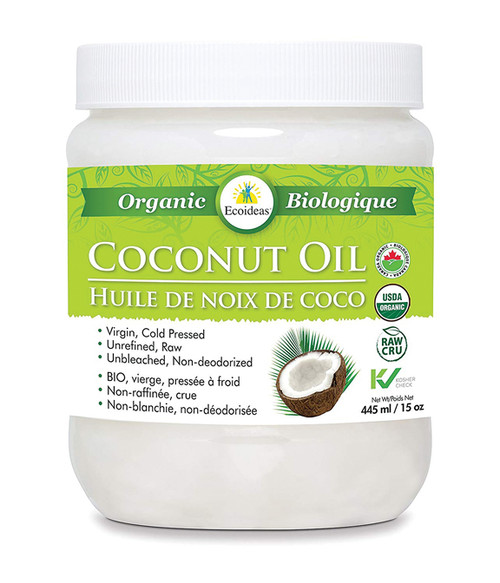Ecoideas: Raw Organic Virgin Coconut Oil (455ml)