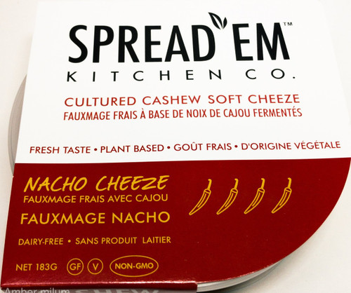 Spread'em: Fermented Cashew Cream-Cheese Style Spread Nacho Cheeze (183g)