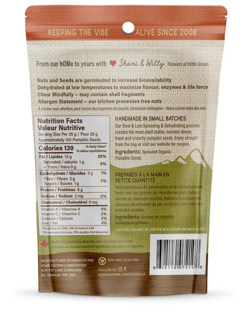 Nutrition Sprouted Pumpkin Seeds