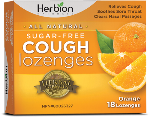 Herbion Naturals: Sugar-Free Cough Lozenges - Orange