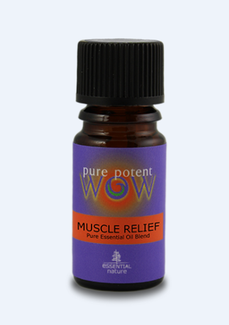 Pure Potent WOW: Pure Essential Oil Blend - Muscle Relief  30% in Organic Jojoba Oil ( Wild, Certified Organic) (5ml)