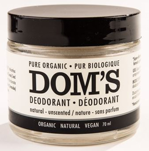 Dom's Deodorant: Natural Unscented (70g)