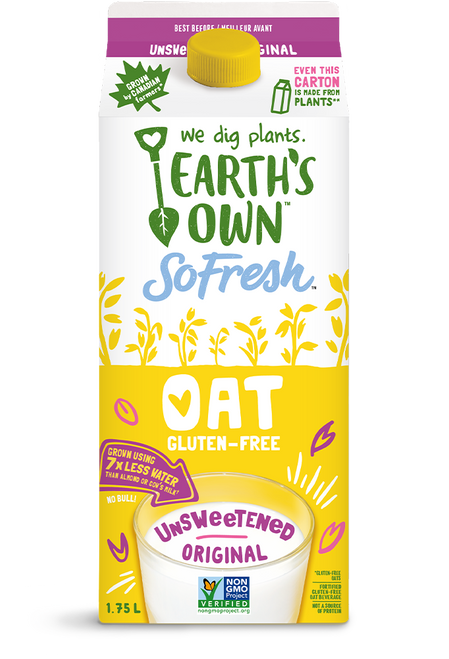 Earth's Own: Oat Milk Original Unsweetened (1.75L)
