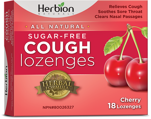 Herbion Naturals: Sugar-Free Cough Lozenges - Cherry