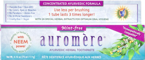 Auromere: Ayurvedic Herbal Toothpaste - Mint Free