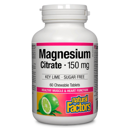 Natural Factors: Magnesium Citrate 150mg Key Lime