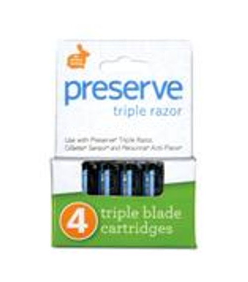 Preserve: Triple Razor Cartridge Refills (4 Units)