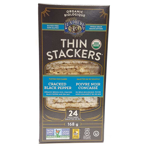 Lundberg: Thin Stackers Cracked Black Pepper
