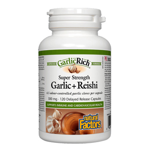 Natural Factors: Garlic + Reishi 300mg