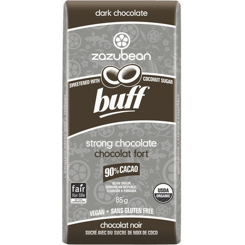 Zazubean Buff Strong Dark Chocolate Bar (85g)