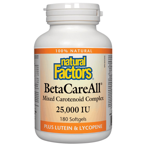 Natural Factors: BetaCareAll 25,000IU (180 Softgels)