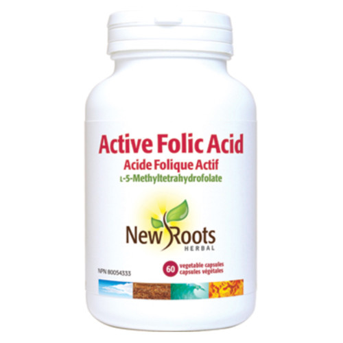 New Roots Herbal: Active Folic Acid (60 VCaps)