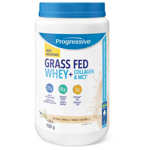 Progressive: Grass Fed Whey + Collagen & MCT - Vanilla