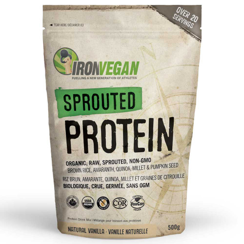 IronVegan: Sprouted Protein - Vanilla (500g)
