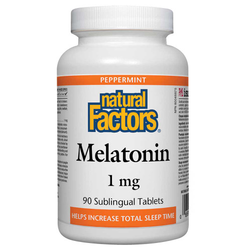 Natural Factors: Melatonin 1mg (90 Subl. Tabs)