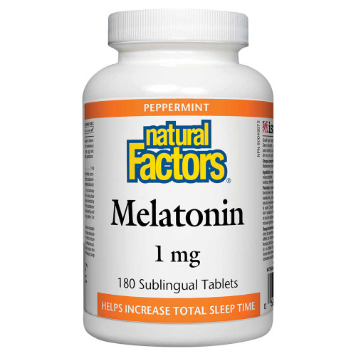 Natural Factors: Melatonin 1mg (180 Subl. Tabs)