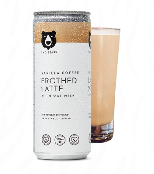 Two Bears: Frothed Vanilla Oat Milk Latte