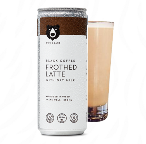 Two Bears: Frothed Black Oat Milk Latte