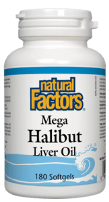 Natural Factors: Mega Halibut Liver Oil (180 SoftGels)