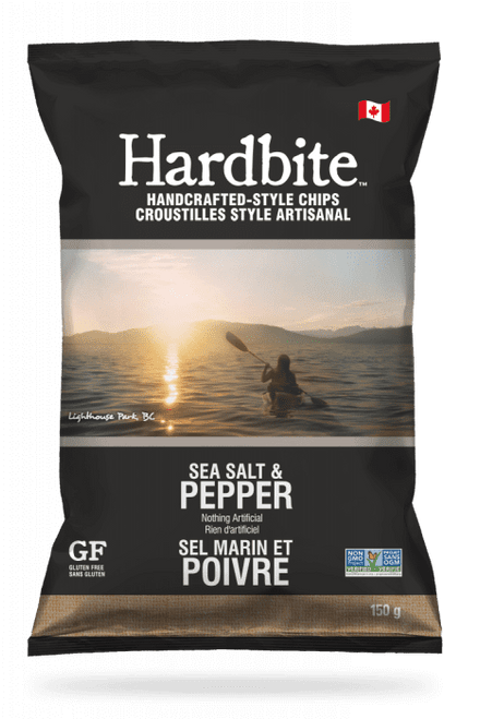 Hardbite: Potato Chips - Sea Salt & Pepper