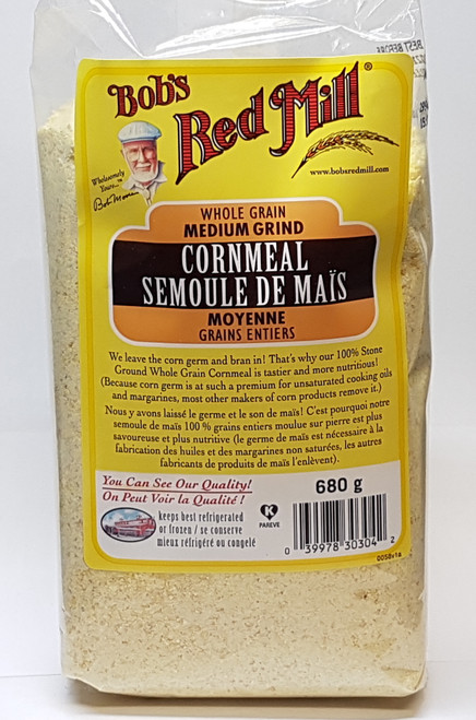 Bob's Red Mill: Med. Grind Cornmeal (680g)