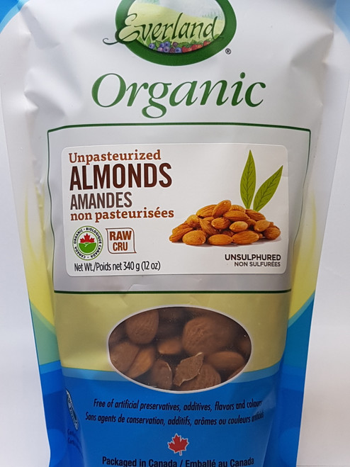 Everland: Organic Unpasteurized Almonds (340g)