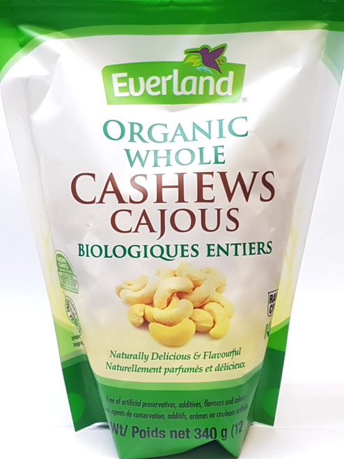Everland: Organic Whole Cashews (340g)
