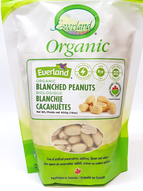 Everland: Organic Raw Blanched Peanuts (400g)