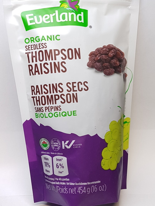 Everland: Organic Thompson Raisins (454g)