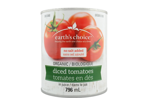 Earth's Choice: Organic Tomatoes - Diced No Salt