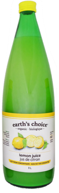 Earth's Choice: Organic Lemon Juice (1L)
