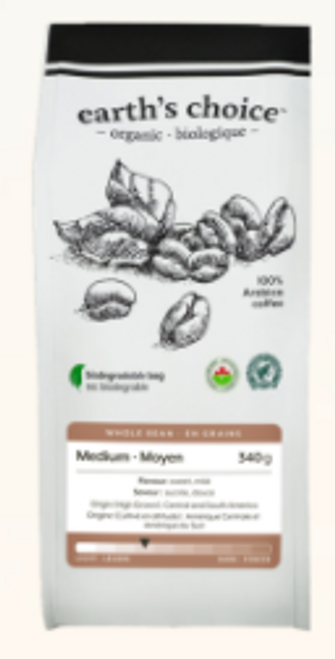 Earth's Choice: Organic Coffee - Medium Whole Bean