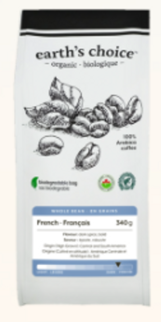 Earth's Choice: Organic Coffee - French Whole Bean